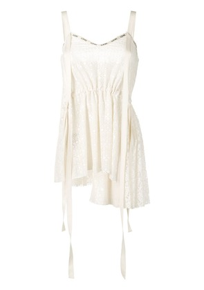 Loewe ribbon detailed top - White