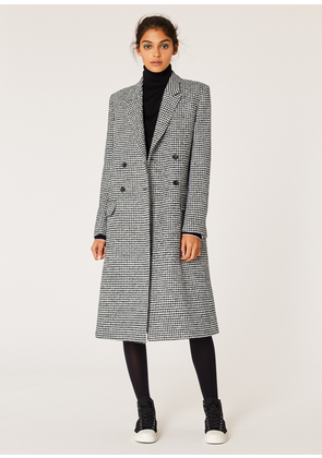 Women's Dogtooth Wool-Blend Double-Breasted Coat