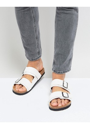 Brave Soul Double Strap Sandals In White - White