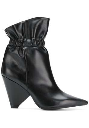 Anna F. cone heel ankle boots - Black