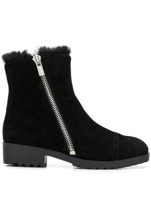 DKNY shearling lined ankle boots - Black
