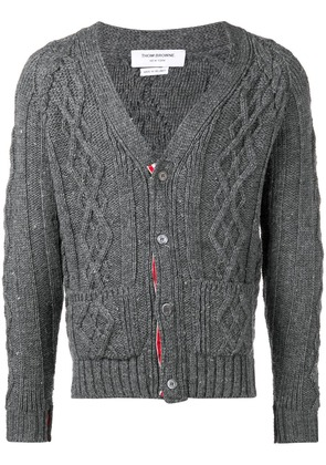 Thom Browne cable knit cardigan - Grey