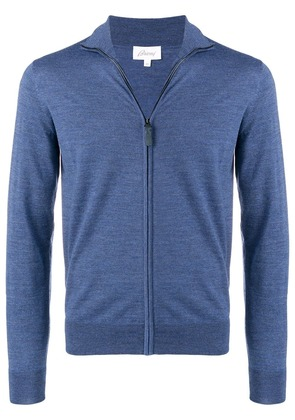 Brioni zipped cardigan - Blue