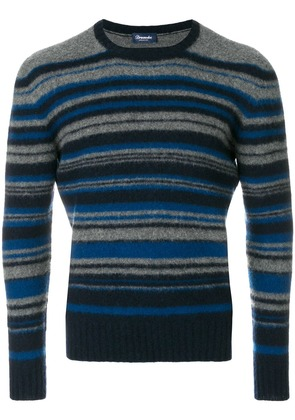 Drumohr striped long sleeved sweater - Blue