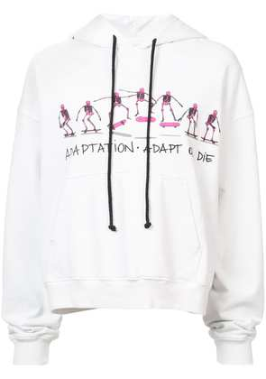 Adaptation Adapt or Die hoodie - White