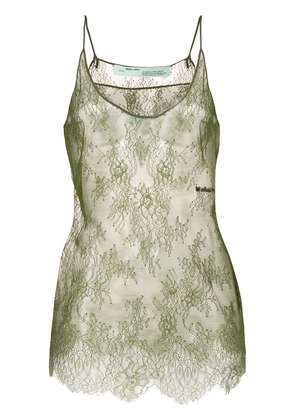 Off-White floral lace top - Green