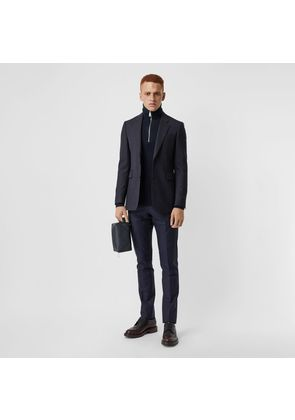Burberry Classic Fit Pinstripe Wool Tailored Jacket, Blue