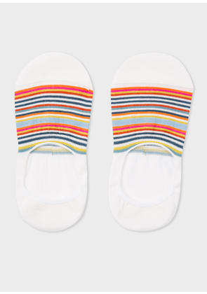 Women's Écru Multi-Colour Striped Loafer Socks