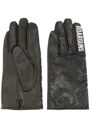 Roarguns printed logo gloves - Green