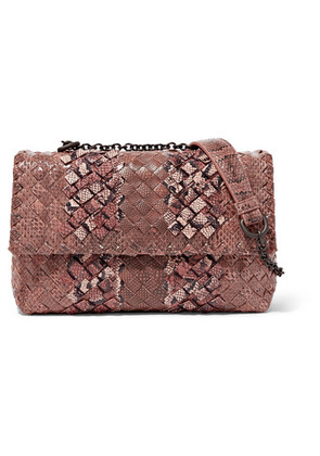 Bottega Veneta - Olimpia Baby Intrecciato Ayers And Karung Shoulder Bag - Light brown