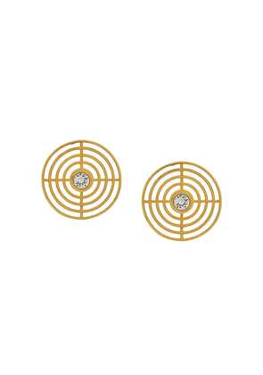 Charlotte Valkeniers extra large Coil Stud earrings - Gold
