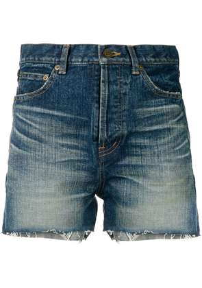 Saint Laurent slim denim shorts - Blue