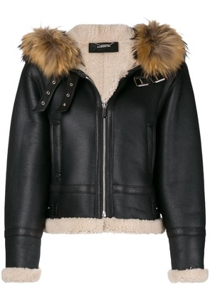 Barbara Bui zipped shearling jacket - Black