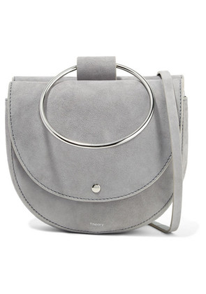 Theory - Whitney Suede Shoulder Bag - Gray