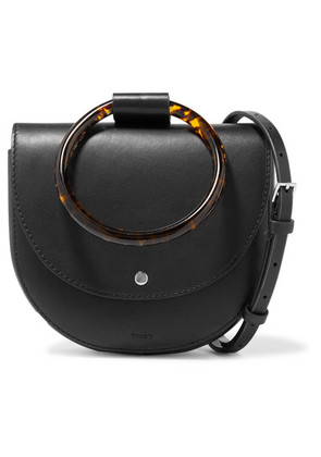 Theory - Whitney Small Leather Shoulder Bag - Black