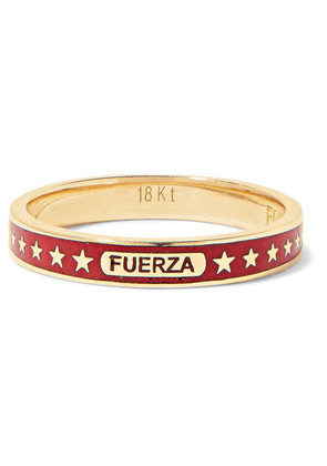 Foundrae - Strength 18-karat Gold Enamel Ring - 5