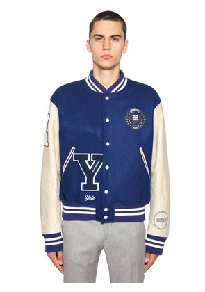 UNIVERSITY VIRGIN WOOL BOMBER JACKET