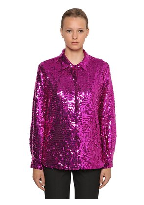 P.M. SEQUINED MAXI SHIRT