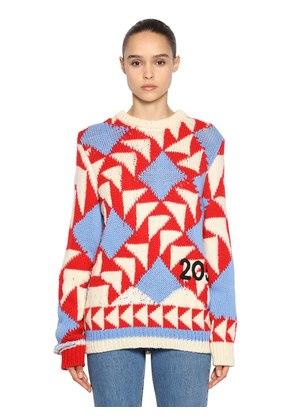 INTARSIA WOOL BLEND SWEATER