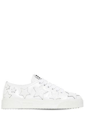 20MM GLITTERED STARS LEATHER SNEAKERS