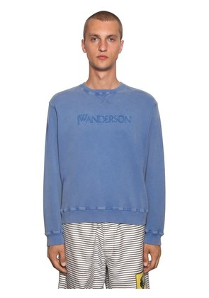 EMBROIDERED COTTON JERSEY SWEATSHIRT