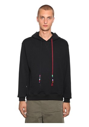 BEADED STRING SWEATSHIRT HOODIE
