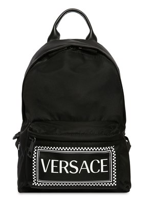 LOGO PRINTED NYLON BACKPACK