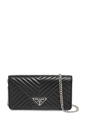 QUILTED NAPPA LEATHER CHAIN SHOULDER BAG