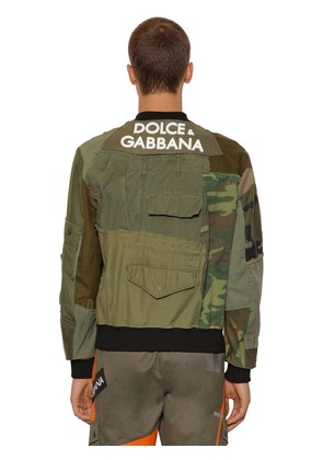 PATCHWORK MILITARY JACKET W/ 3D LOGO
