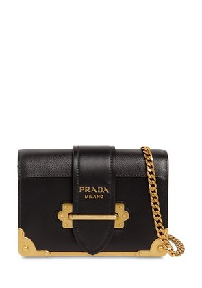 SMALL CAHIER LEATHER SHOULDER BAG