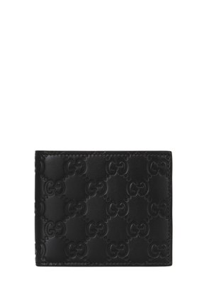 SIGNATURE LOGO LEATHER WALLET