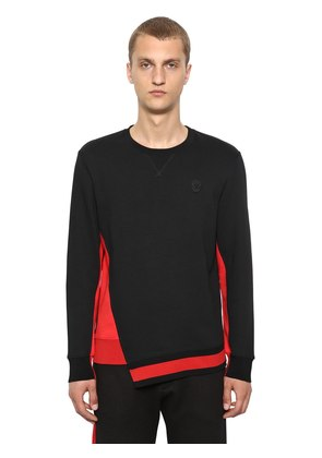 ORGANIC COLOR BLOCK JERSEY SWEATSHIRT