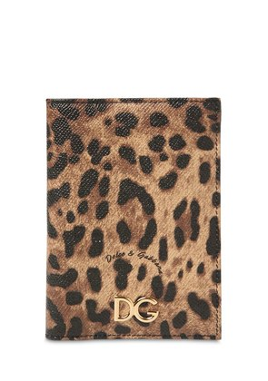 LEO PRINT DAUPHINE PASSPORT HOLDER