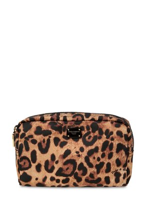 NYLON LEOPARD PRINT BEAUTY CASE