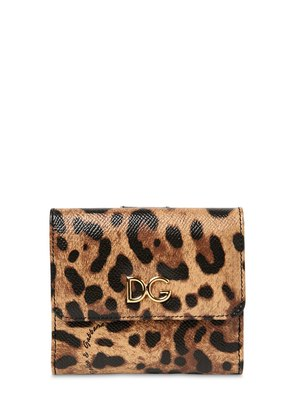 LEO PRINT DAUPHINE LEATHER WALLET