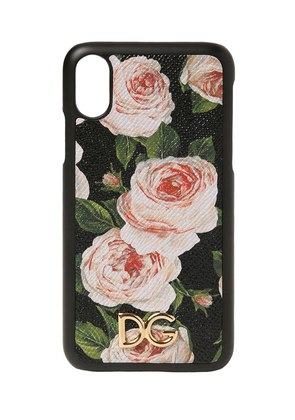 FLORAL PRINT LEATHER IPHONE X CASE