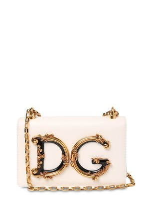 DG GIRLS BAROCCO LEATHER SHOULDER BAG