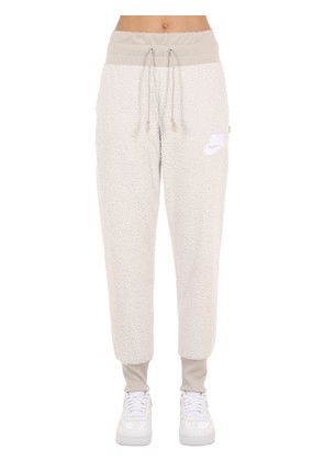FAUX SHEARLING SWEATPANTS