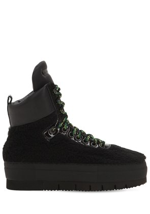ADELE FAUX SHEARLING HIGH TOP SNEAKERS