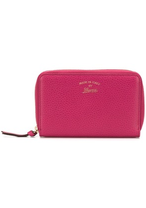 Gucci zip around wallet - Pink