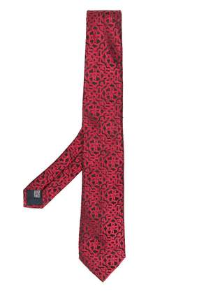 Lanvin patterned tie - Red