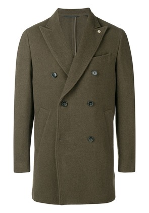 Closed double breasted coat - Green