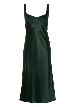 Dion Lee layered satin dress - Green