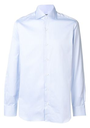Barba perfectly fitted shirt - Blue
