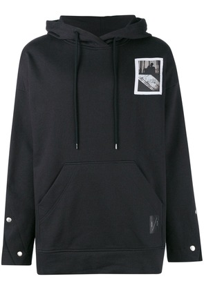 Odeur oversized patch hoodie - Black