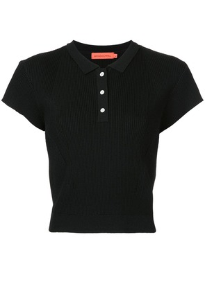 Manning Cartell ribbed polo shirt - Black