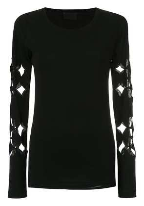 Andrea Bogosian cut out details blouse - Black