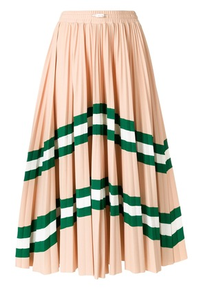 Valentino VLTN patterned pleated midi skirt - Neutrals