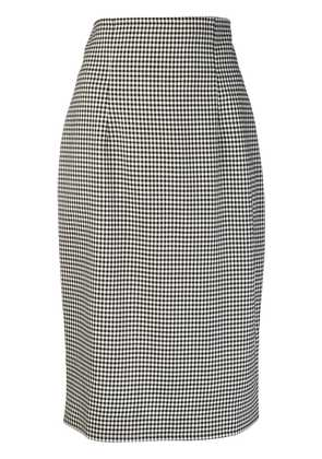 Gianluca Capannolo vichy pencil skirt - Black