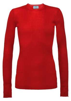 Prada Wool and silk crew-neck sweater - Red